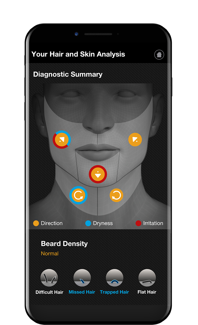 Braun Beard Diagnostic Tool Summary Screen