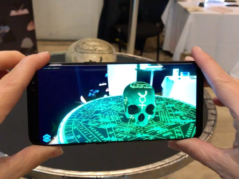 Augmented Reality Object Recognition Skull Demo