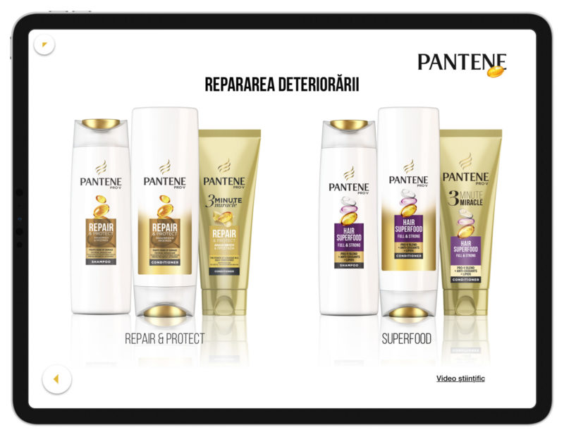 Pantene Product Screen
